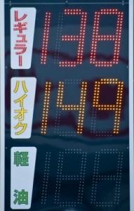 ガゾリン価格